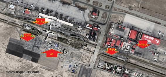 نقشه پارکینگ فرودگاه امام